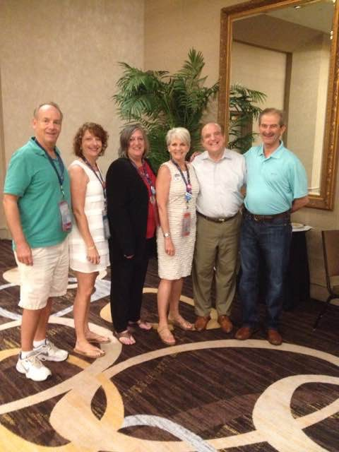 Kathi with the Chester County delegation to the 2016 Democratic National Convention. Dan Wofford, Stephanie Philips Markstein, Kathi, Carolyn Comitta, Andy Dinniman, and John Hellman.